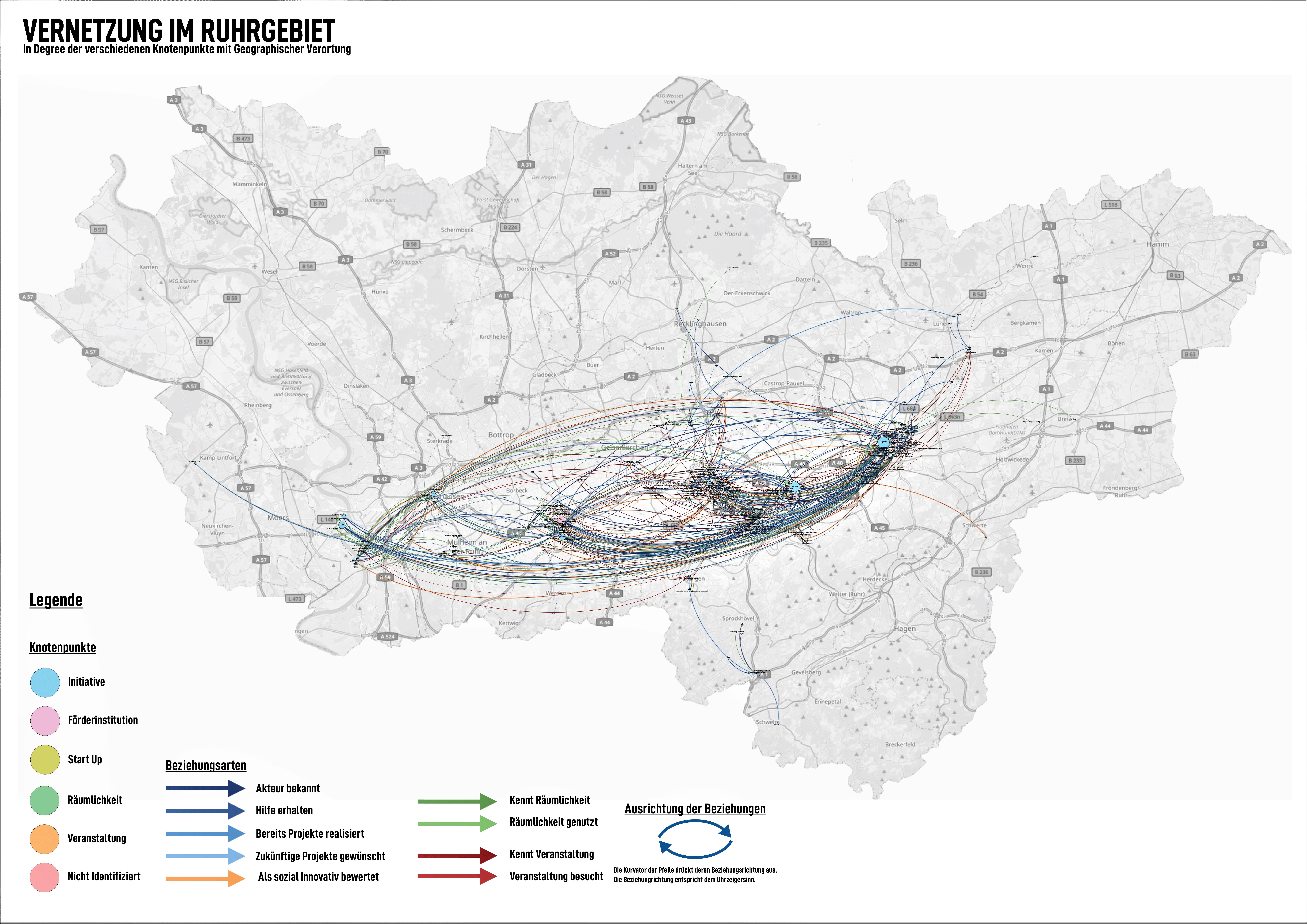 Karte Ruhrgebiet.Netzwerkanalyse Soziale Innovation Im Ruhrgebiet